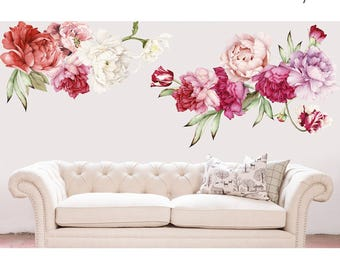 Floral Wall Decals | Etsy