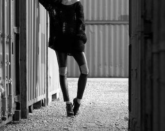 Leather leggings, Stretchleder