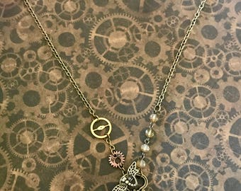 Steampunk art nouveau 3 necklace