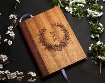 Wedding guest book,Custom guest book,Guestbook,Wedding guest book alternative,Wedding guest book ideas,Wooden guest book,Wood photo album
