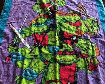 TMNT Beach Towel 1988 Vintage Ninja Turtles