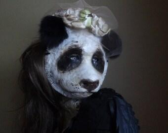 Masquerade mask, Halloween mask, panda mask, panda costume, bear mask, panda bear mask