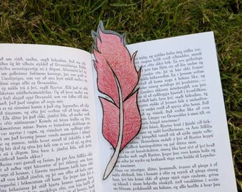 Feather bookmark red