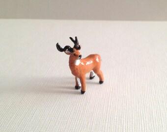 Miniature Deer - Tiny handmade figurine. Micro figure. OOAK.