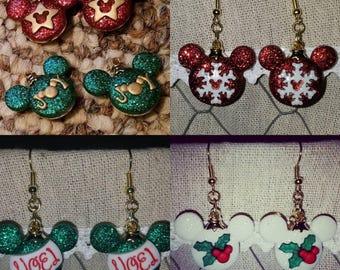 Disney Christmas Earrings