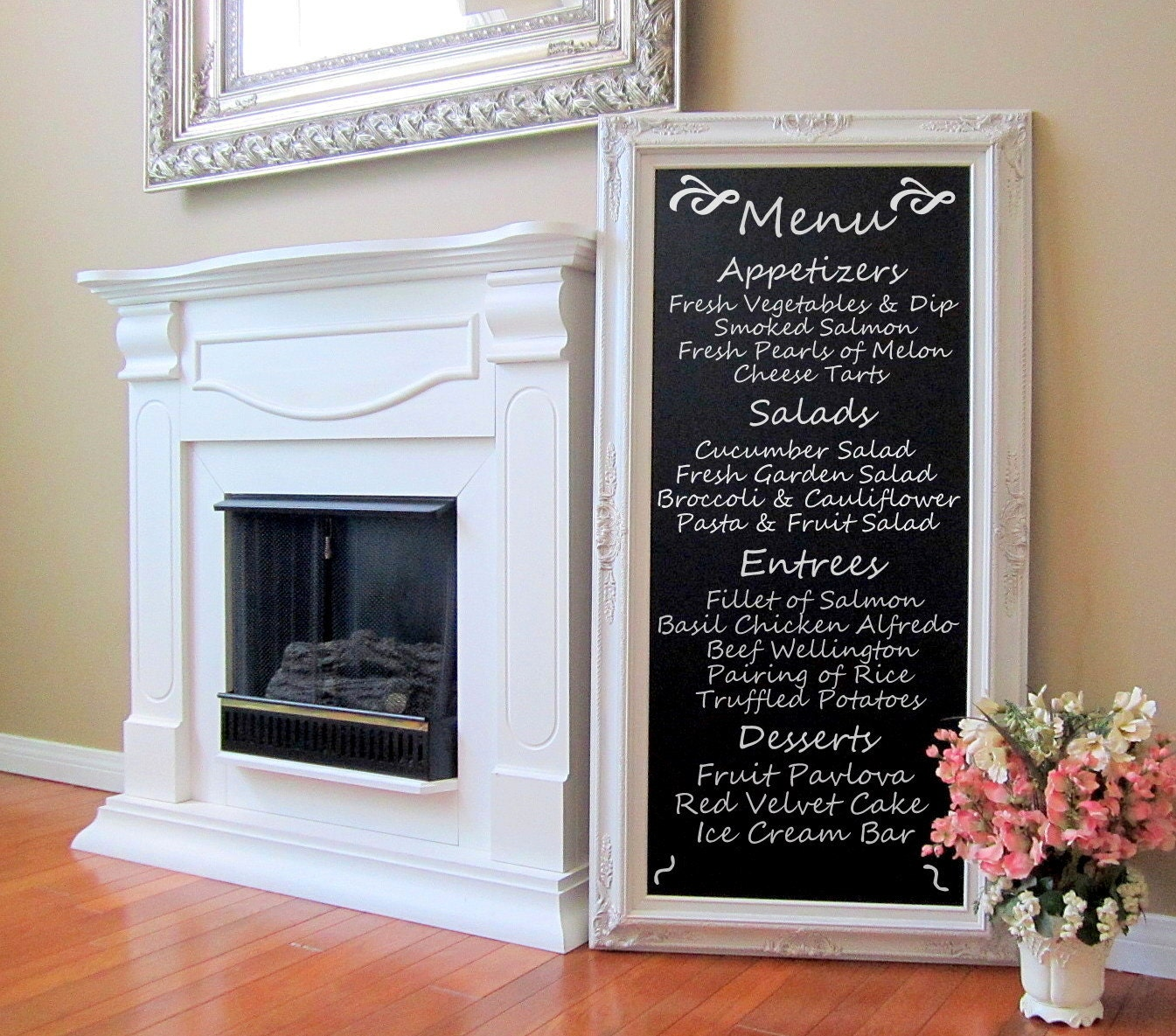 DINiNG ROOM DECOR Wall Art French Furniture Chalkboard Long
