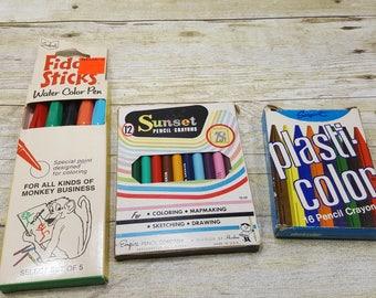 Vintage Art Supplies, 1950s, vintage art, craft supplies