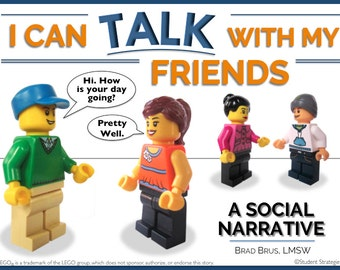 I Can Talk With My Friends! Social Narrative - Social Story - Autism