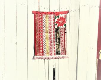 Christmas Flag|Holiday Banner|Christmas Decor|Holiday Flag|Christmas Tapestry|Vintage