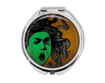 Medusa Compact Mirror Pocket Mirror Large Ready to ship