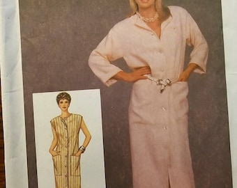 Vintage Uncut Simplicity Misses sz 10-14 Shirt Dress Pattern 6741