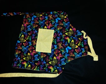 Rainbow butterfly reversible apron