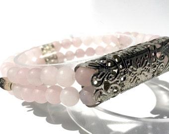 Classic Stretch Silver-tone Fitbit Flex Bracelet Semi-Precious Stone