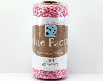 Hot Pink Bakers Twine 240 Yards Full Spool 4 Ply