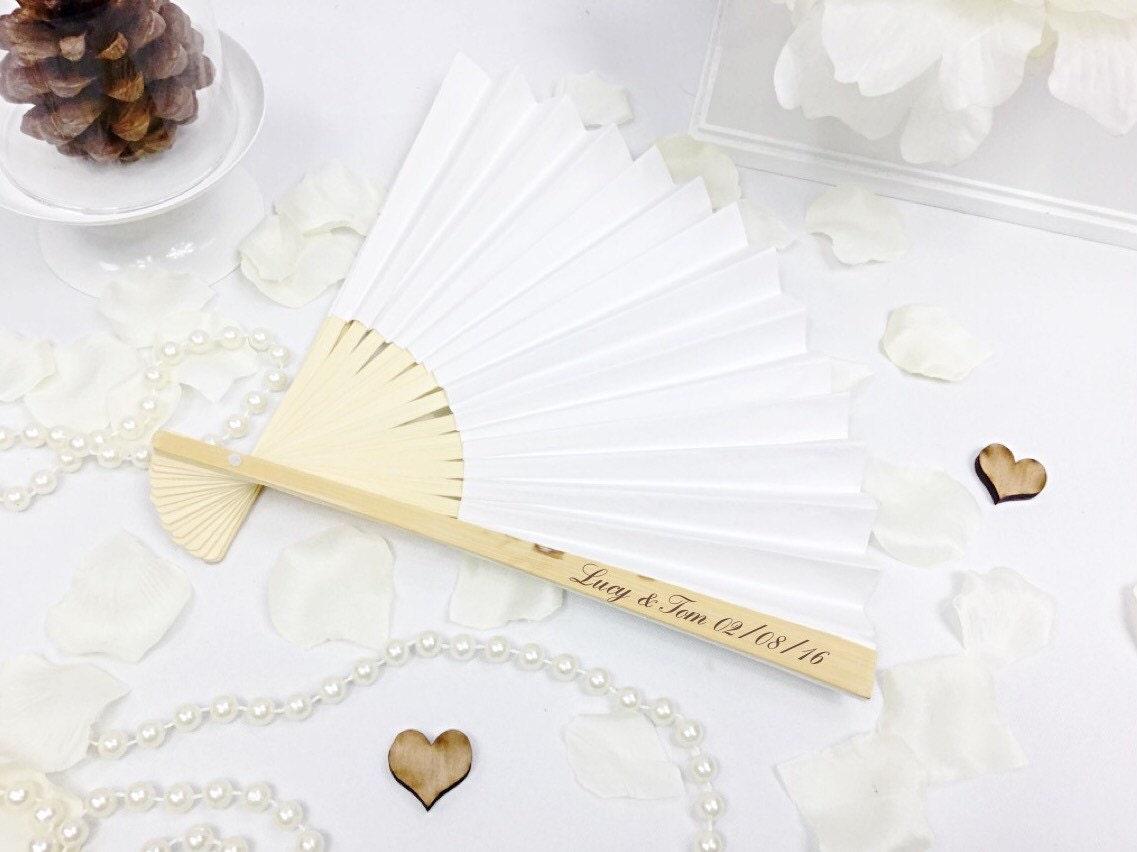 Wooden fan, wedding fan, personalised fan, Hand fan, wedding favours ...