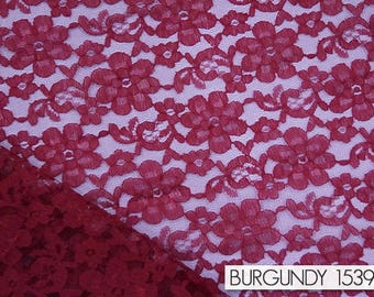 Tablecloths in Burgundy Classic Lace - Lace tablecloths & overlays for weddings.