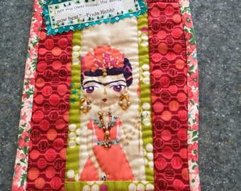 Frida Kahlo Mini Beaded Quilt Wall Hanging