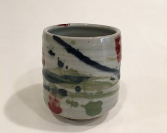 One Handmade Tea cup, Ceramic Cup, Yunomi, TCMCH18WRB13
