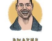 Dwayne Johnson Print...