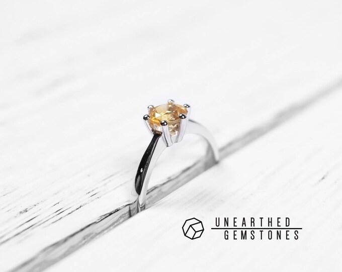 Size 7 Citrine Ring