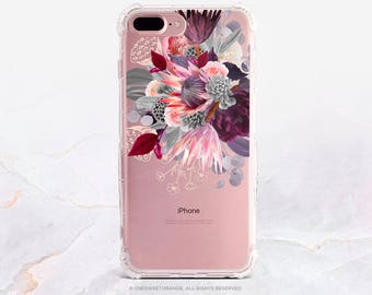 iPhone 8 Case Protea Floral iPhone X Case iPhone 7 Case Clear GRIP Rubber Case iPhone 7 Plus Clear Case iPhone SE Case Samsung S8 Case U360