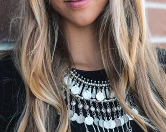 Coin Chain Bohemian Statement Necklace