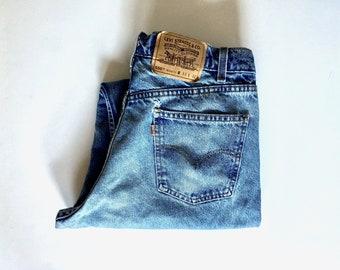Vintage Men's 90's Levi's 550, Jeans, Relaxed Fit, Orange Tab, Denim (W32)
