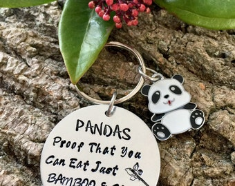Panda Keyring, Gift for a Panda lover, Gift For Her, Funny Gift, Joke Gift, Weight, Personalised Keyring, Panda Gift, Panda Lover, Stocking,