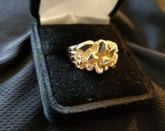 Rounded 10k Gold Nugget Ring