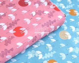 C+S - cotton lawn -  1000 Cranes Dusk fabric - 50cm
