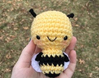 Phoebe the Bee- Amigurumi Crocheted Bee- Stuffed Animal Toy