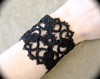 Tatted Lace Cuff Bracelet - Ornate