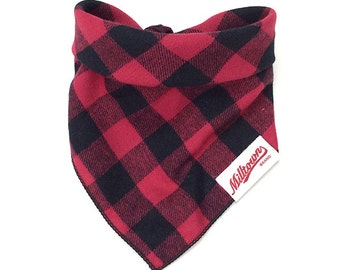 Dog Bandana - Red Buffalo Plaid