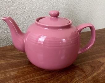 Desert Pink Ceramic Teapot - Six Cup Porcelain. Teapot - Fiesta Pink Teapot - Wedding Gift - Housewarming Gift