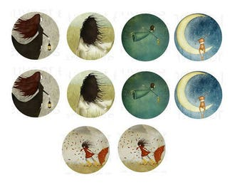 """25mm, 5 cabochons """"dreamers"""" worst"""