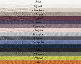 Certified soft linen fabric by yard. Custom color by Lovely Home Idea