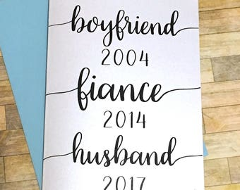 Custom Pregnancy Announcement Card for Husband - Personalized Card for New Daddy - Personalized Dates to Remember Baby Reveal