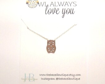 Owl Always Love You Necklace Dainty Owl Necklace