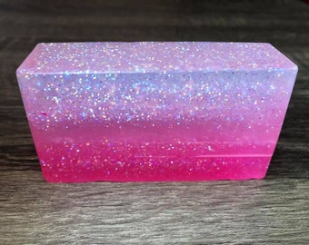 Hot Pink Lime Ombre Handmade Soap