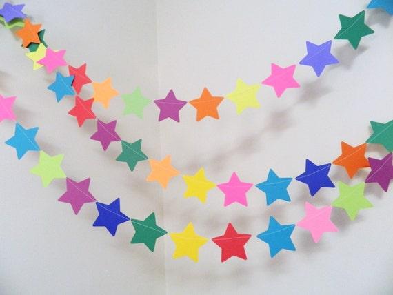 Birthday Decorations Boy Girl Star Banner Rainbow