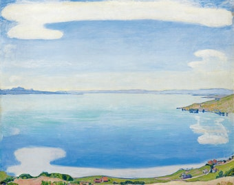 Lake Geneva seen from Chexbres by Ferdinand Hodler Home Decor Wall Decor Giclee Art Print Poster A4 A3 A2 Large FLAT RATE SHIPPING