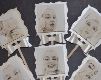 Retro Hollywood Glam Marilyn Monroe Cupcake Toppers
