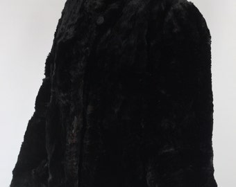 1960's Sheared Beaver Fur Swing Coat
