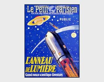 Le Petit Parisienne Ring Of Light L'Anneau De Lumière French Vintage Poster Print Art Advert Free US Post Low EU & CA Post Buy 3 Get 1 Free