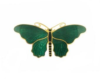 Sporrong & Co Enamel Butterfly Brooch