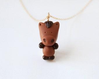 Dexter the stallion horse necklace