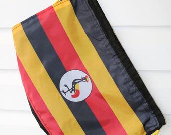 Ugandan flag drawstring bag