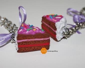 Fimo ' Strawberry cake ' bracelet