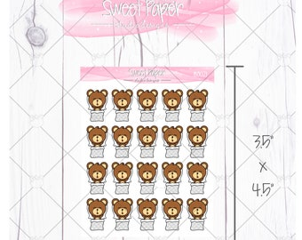 Nap Time Bear Sticker B0021