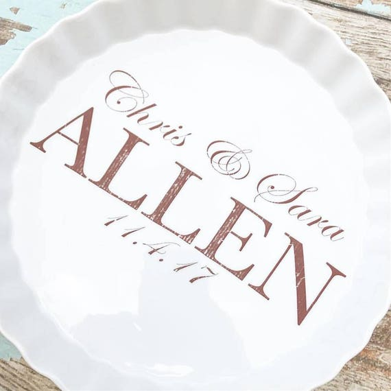 sc 1 st  Etsy & custom handwriting quiche baking pan personalized bakeware